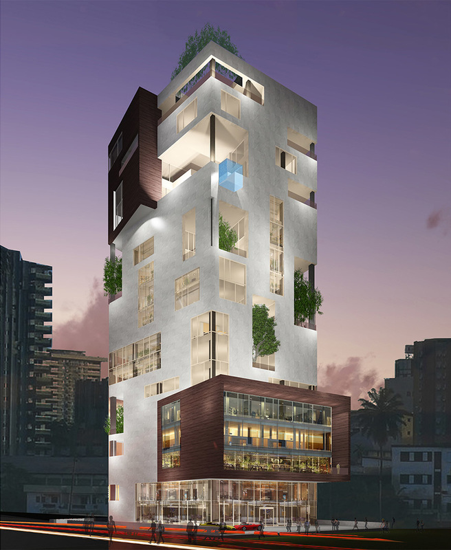 Akwa tower exid engineering for Design hotel douala